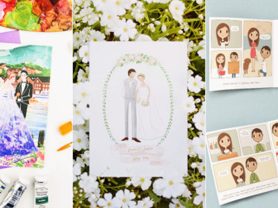 Most Beautifully Hand-Illustrated Wedding Invitations! 6 Talented Artists You Must Know!