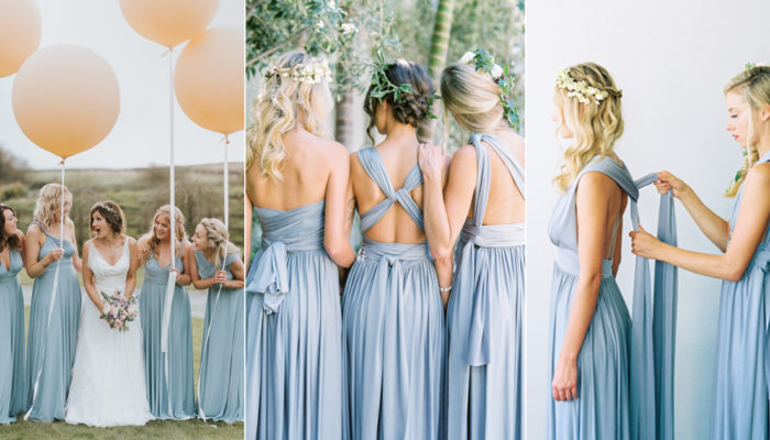 28 Super Stylish Convertible (Twist-Wrap) Bridesmaid Dresses Your Girls Will Love!