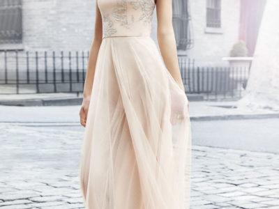 Metallic Tulle Gown