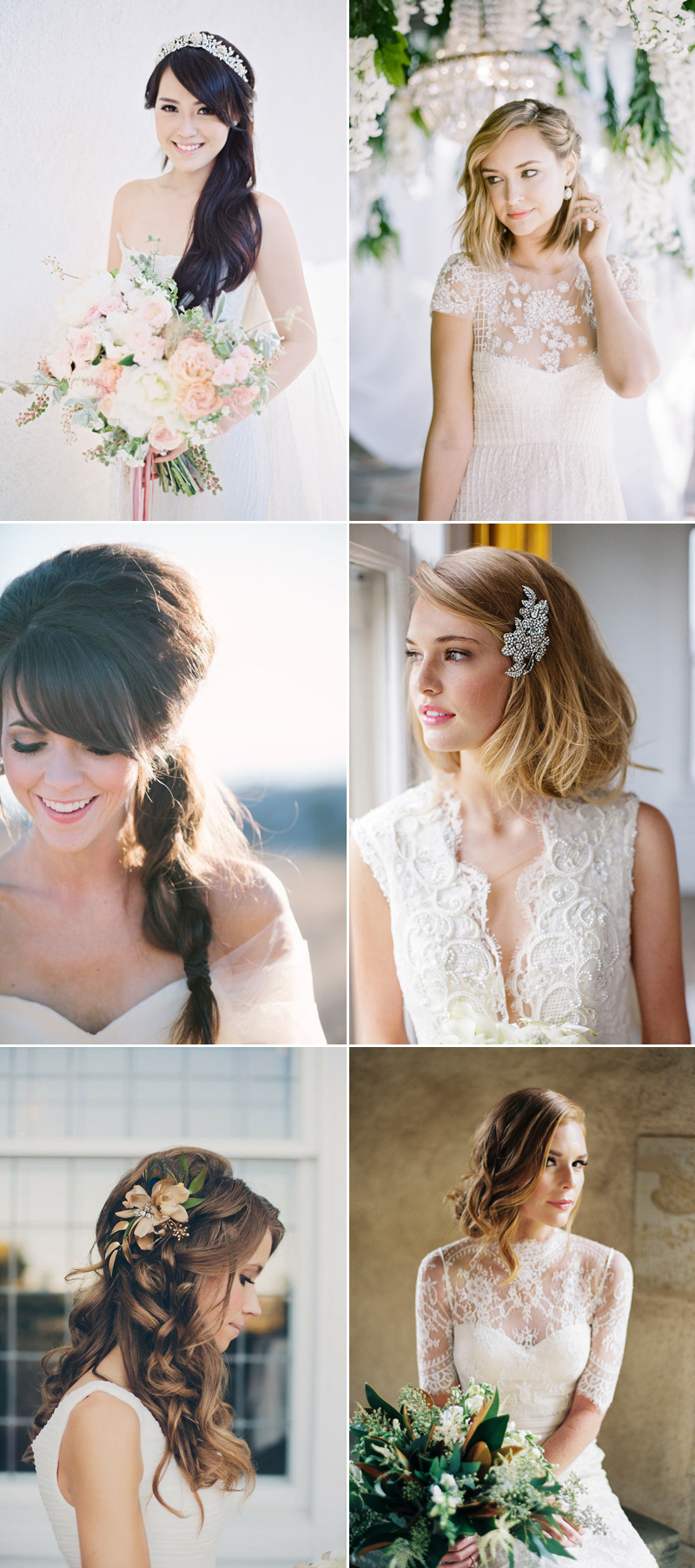 How to Find the Right Wedding-Day Hairstyle? The Most Flattering ...