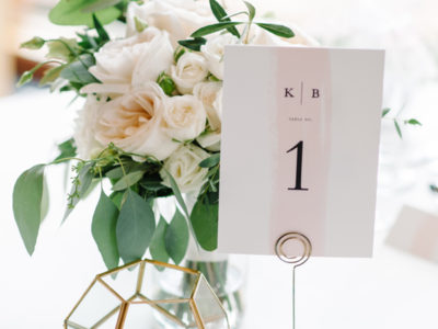 Single Swath Blush Table Numbers (10)