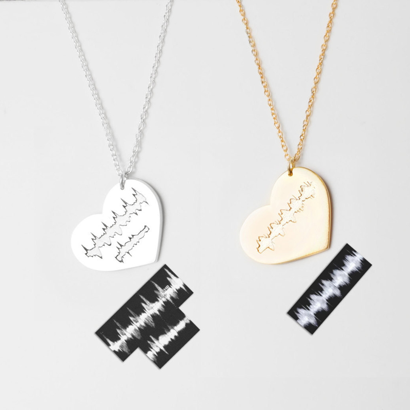 03-Actual Heartbeat Ultrasound Heart Necklace