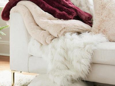 Fireside Faux Fur Throw Blanket