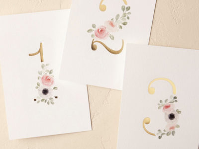 Peeking Florals Table Numbers