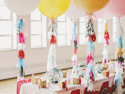 36″ Giant Balloon With Tassels