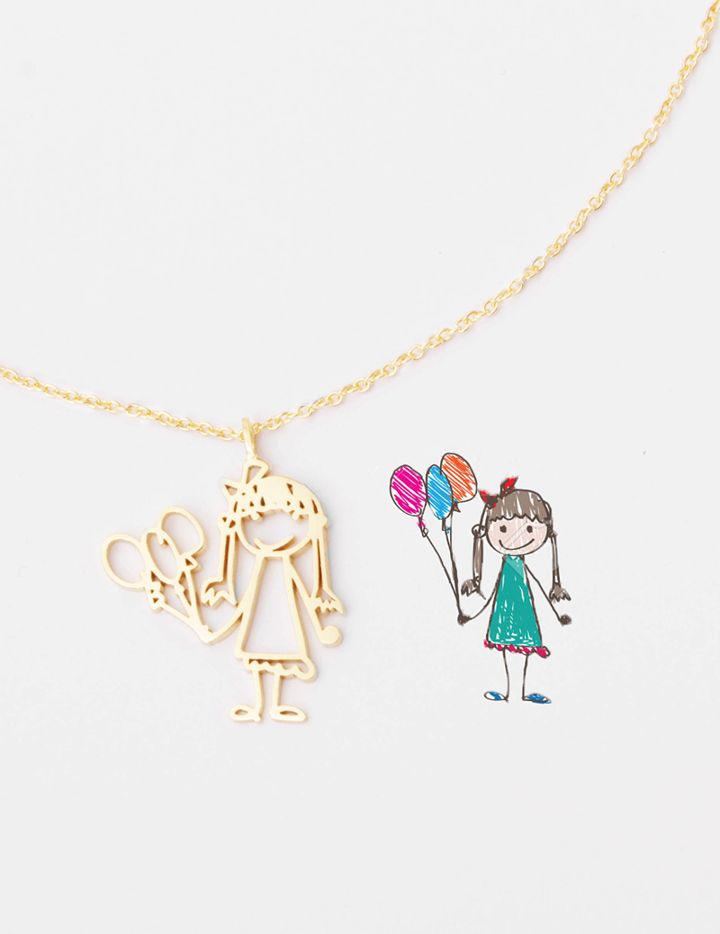 06-Kid's Drawing Necklace