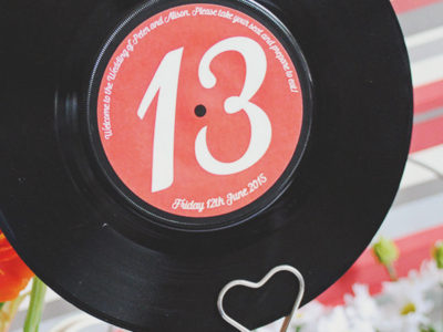 Vinyl Record Wedding Table Names (10)