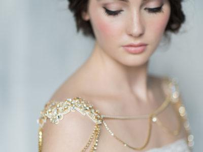 Gold Bridal Shoulder Necklace