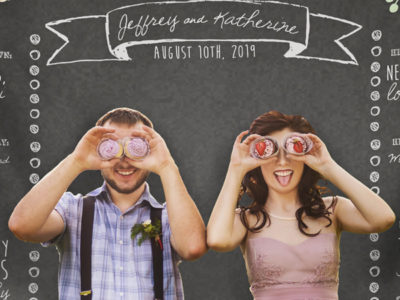 Custom Wedding Photo Booth Backdrop