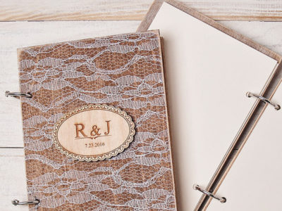 Rustic Lace Vow Books