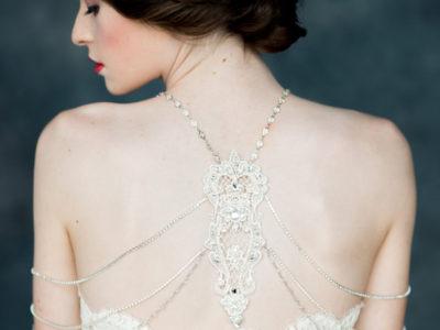 Silver Crystal Shoulder Necklace