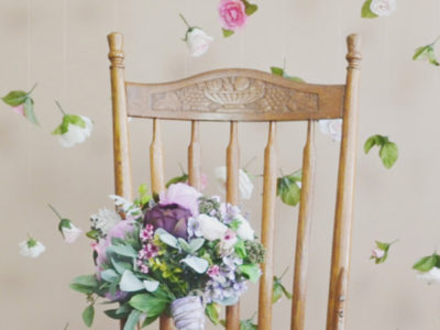 Silk Flower Wedding Backdrop