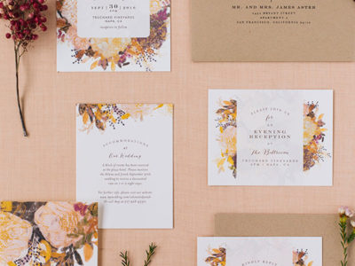 Floral Feast Invitation (100)