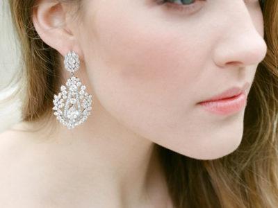 Simulated Diamond Drop Earrings