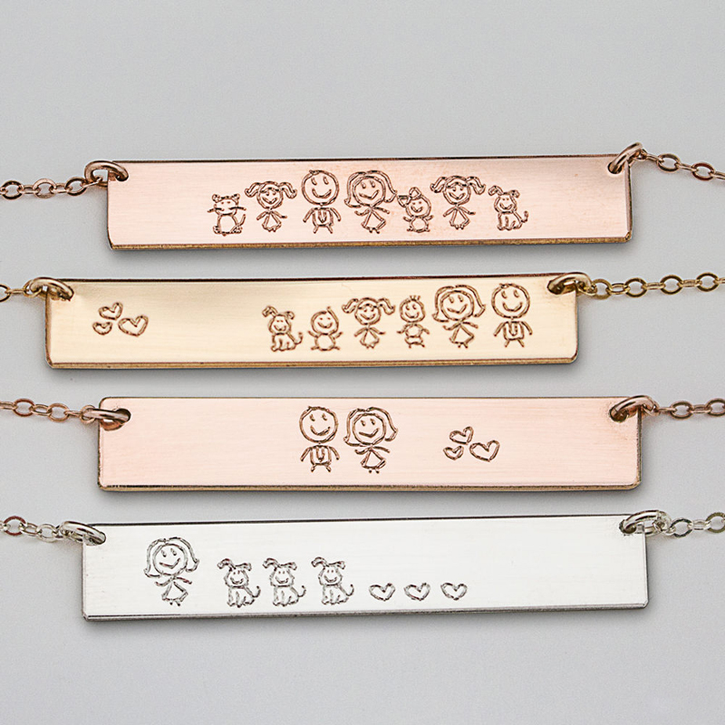 16-Family Bar Necklace
