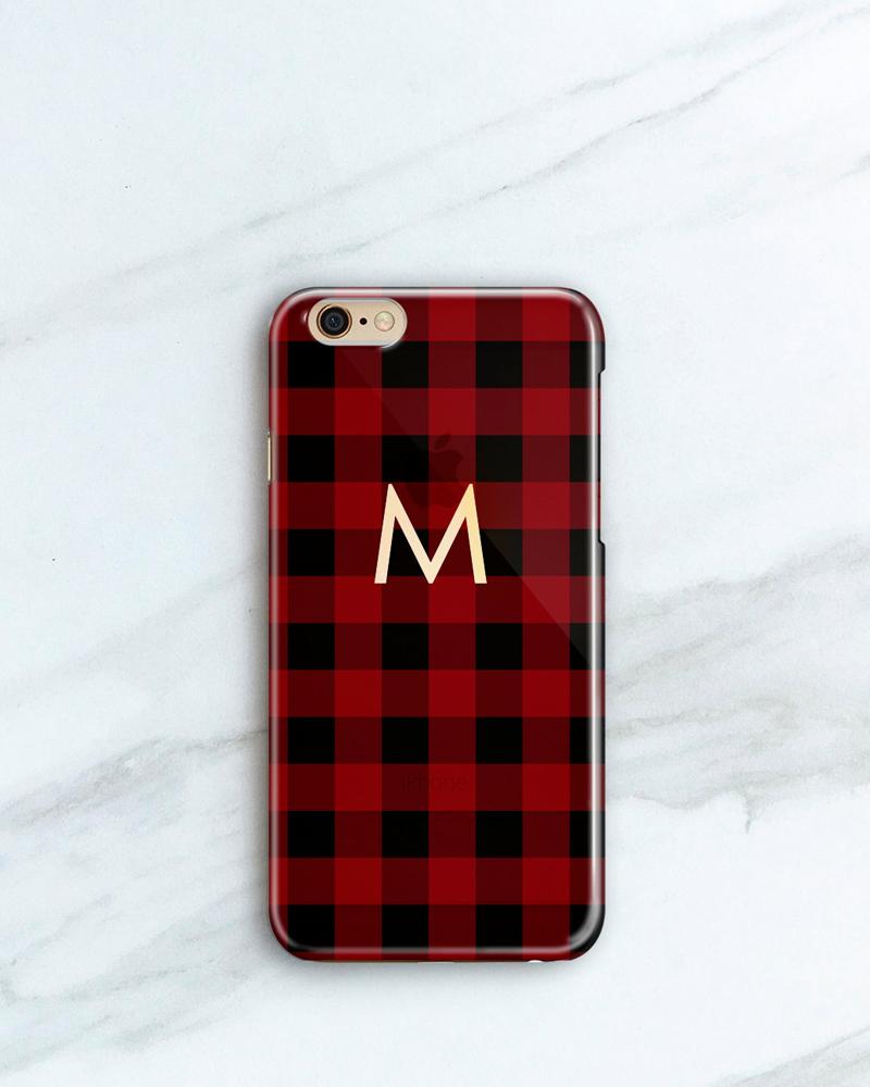 17-Personalized Buffalo Plaid iPhone Case