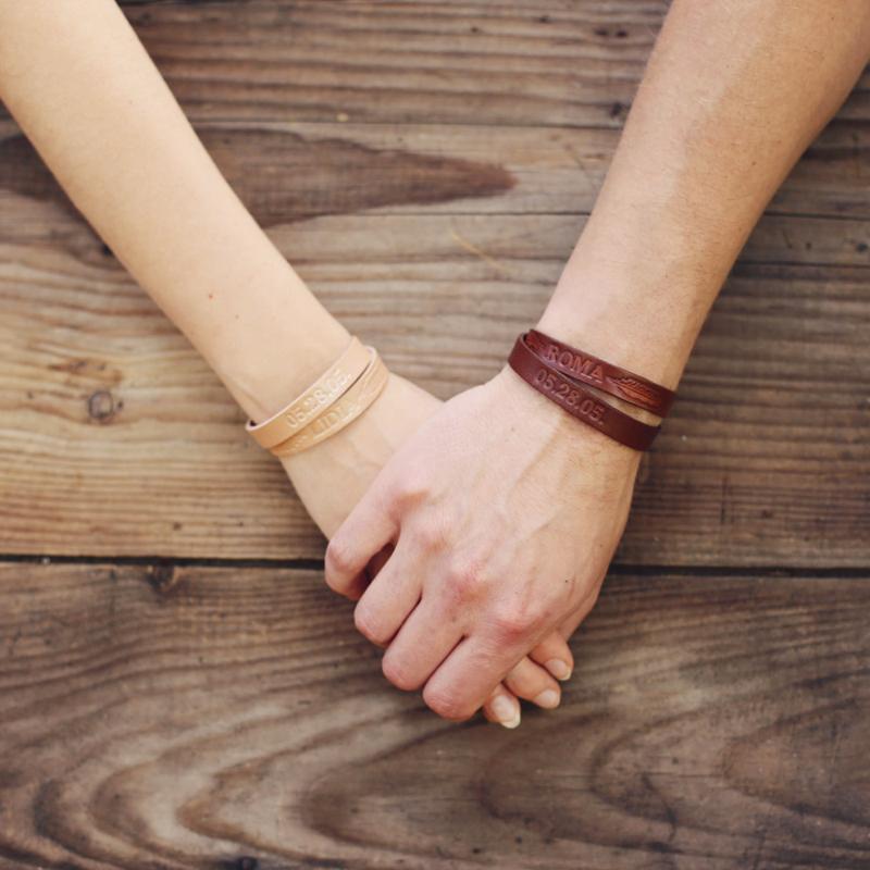 19-Personalized Couples Bracelets ( x2)