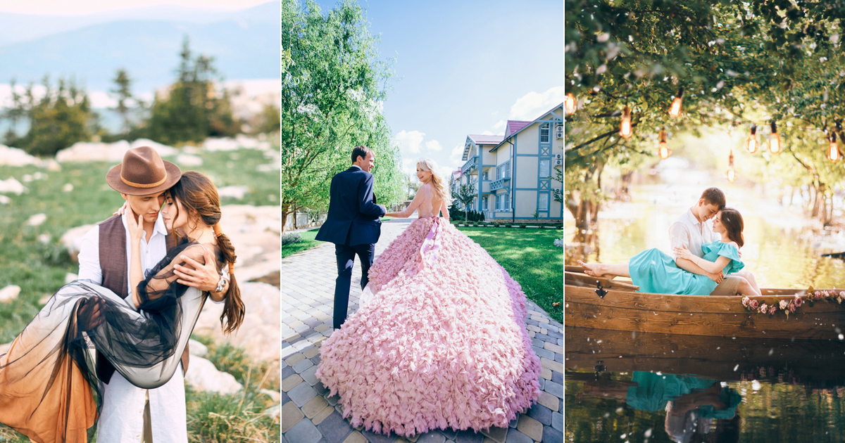 Real-Life Fairy Tales! 20 Beautiful Wedding Photos That