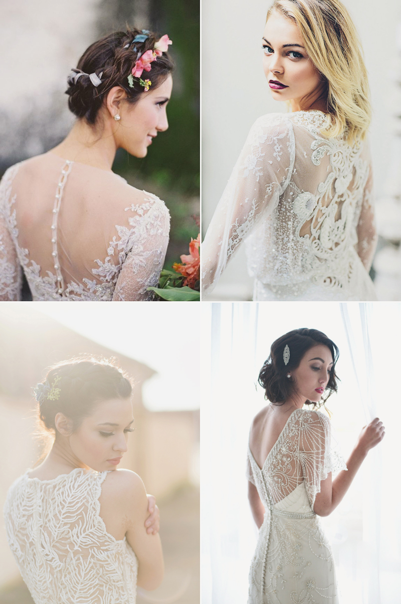 6 Beautiful Wedding Dress Styles for Brides with Short Hair ...