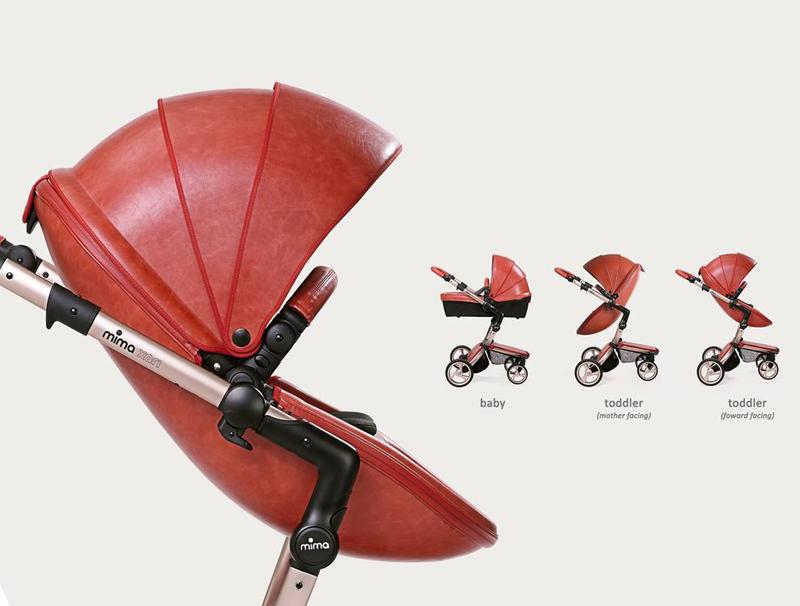 06-Xari Rose Goldtone Chassis Stroller