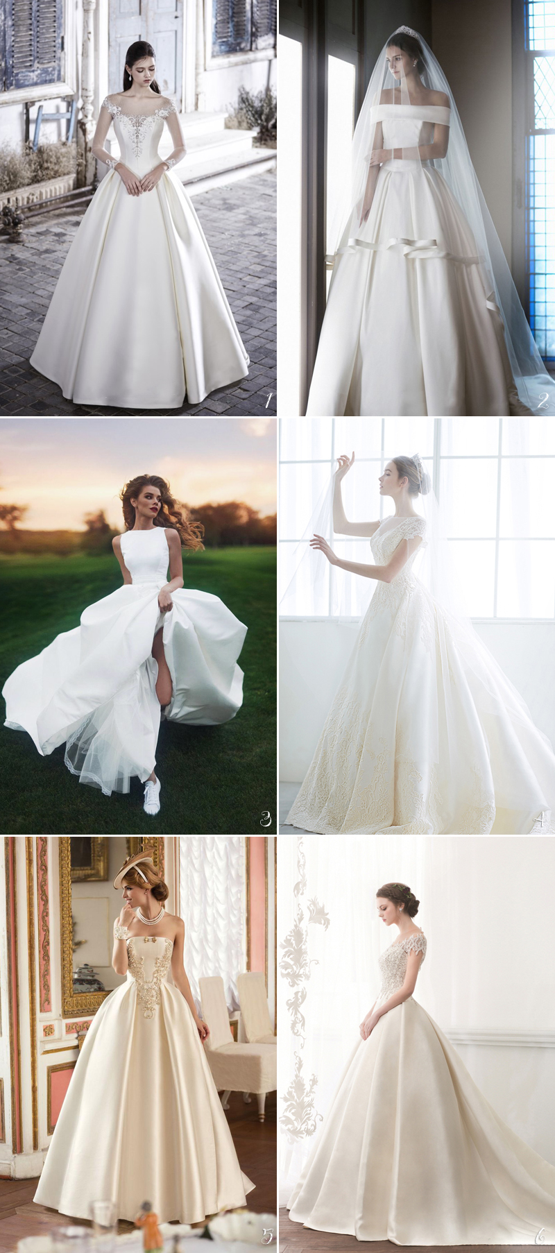 30 Timelessly Elegant Structured Wedding Dresses You Will Fall In ...