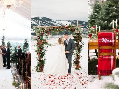 Happy Holidays! 6 Cozy Festive Christmas Weddings We Love!