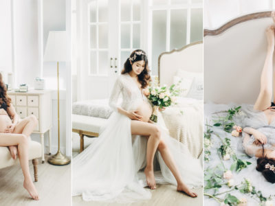 Effortlessly Elegant Intimate Maternity Photos by Milk and Honey Studio