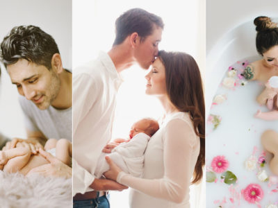 How to Pose Parents with Newborn Baby? 6 Stress-Free Baby Photo Poses!