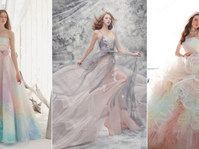 Amazing Colors! 24 Wedding Gowns Featuring Unbelievably Beautiful Mix of Colors!