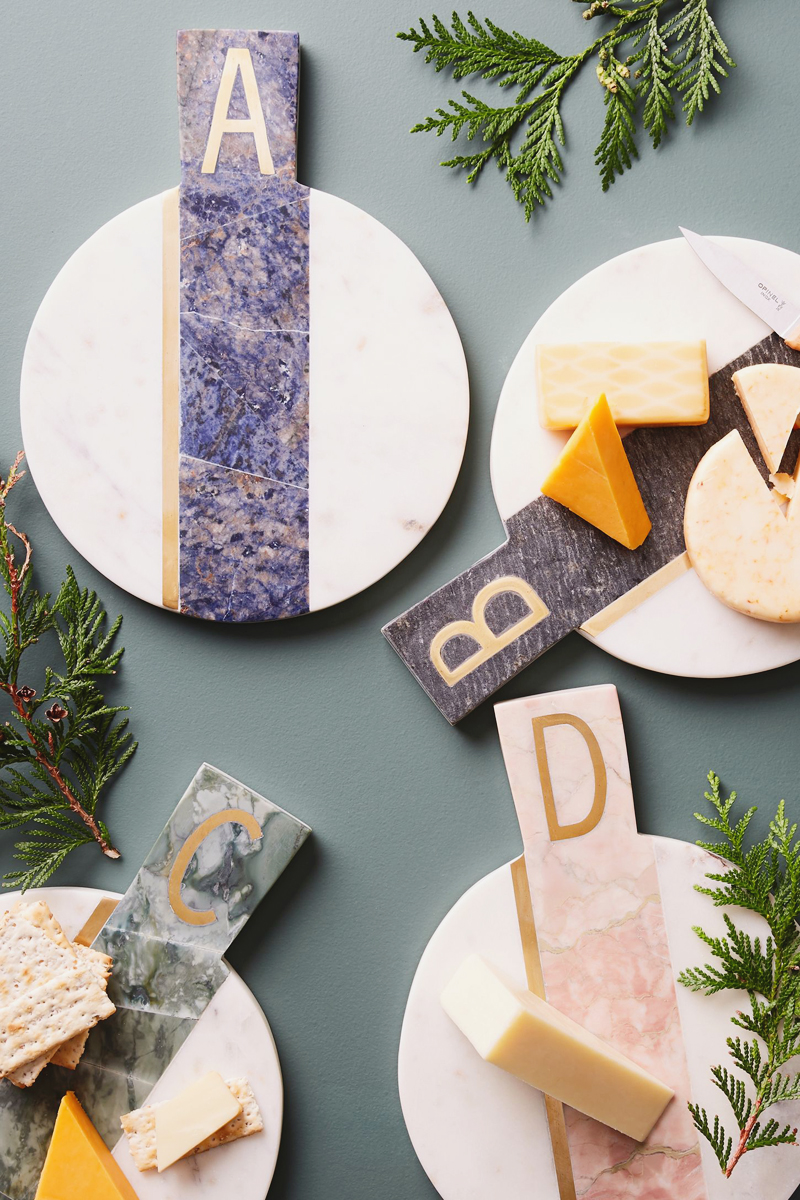 02-02-Marbled Monogram Cheese Board