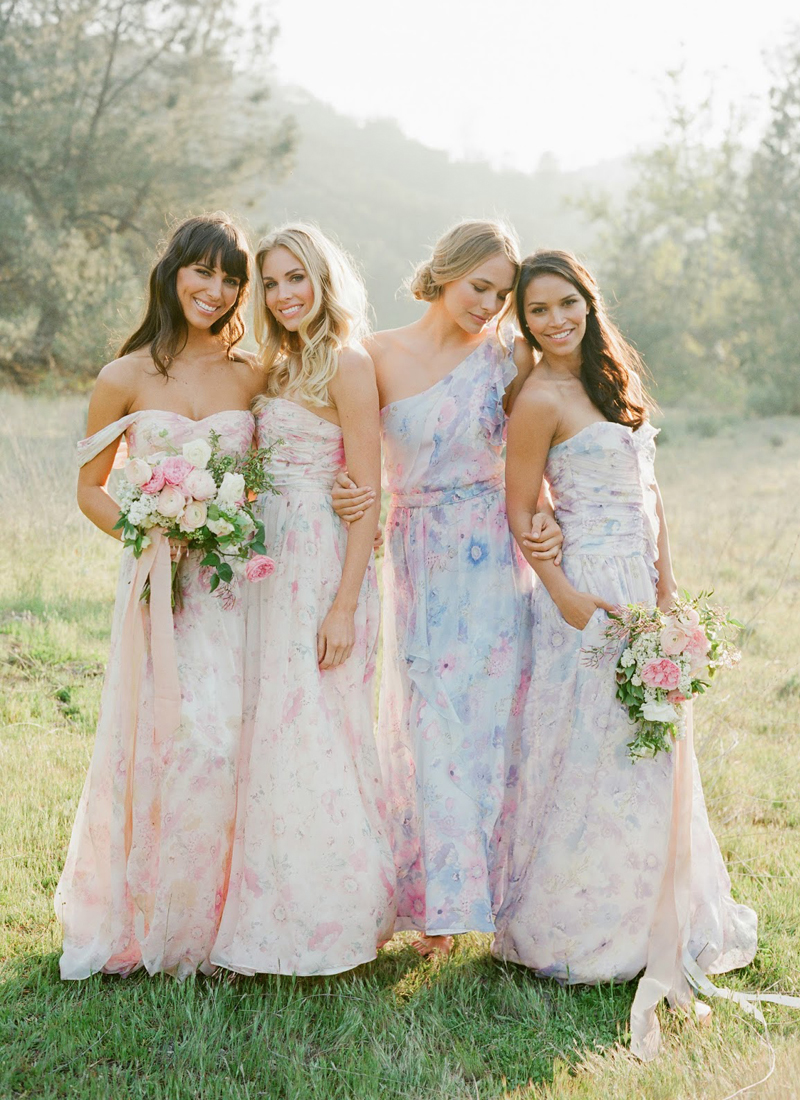 02-Floral Bridesmaid Dresses