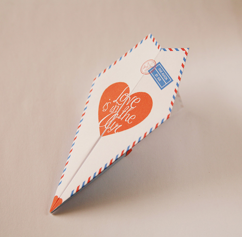 03-DIY Paper Airplane Valentines Kit