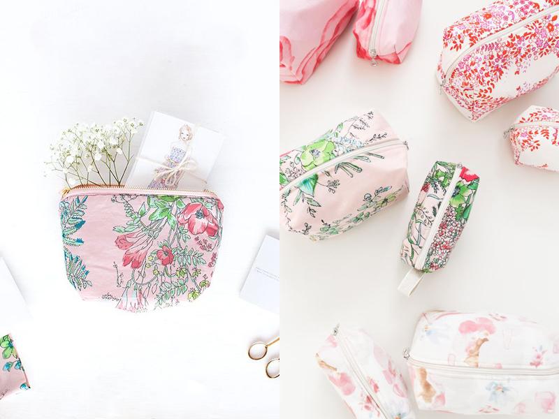 04-Floral Print Costmetic Bags (1)