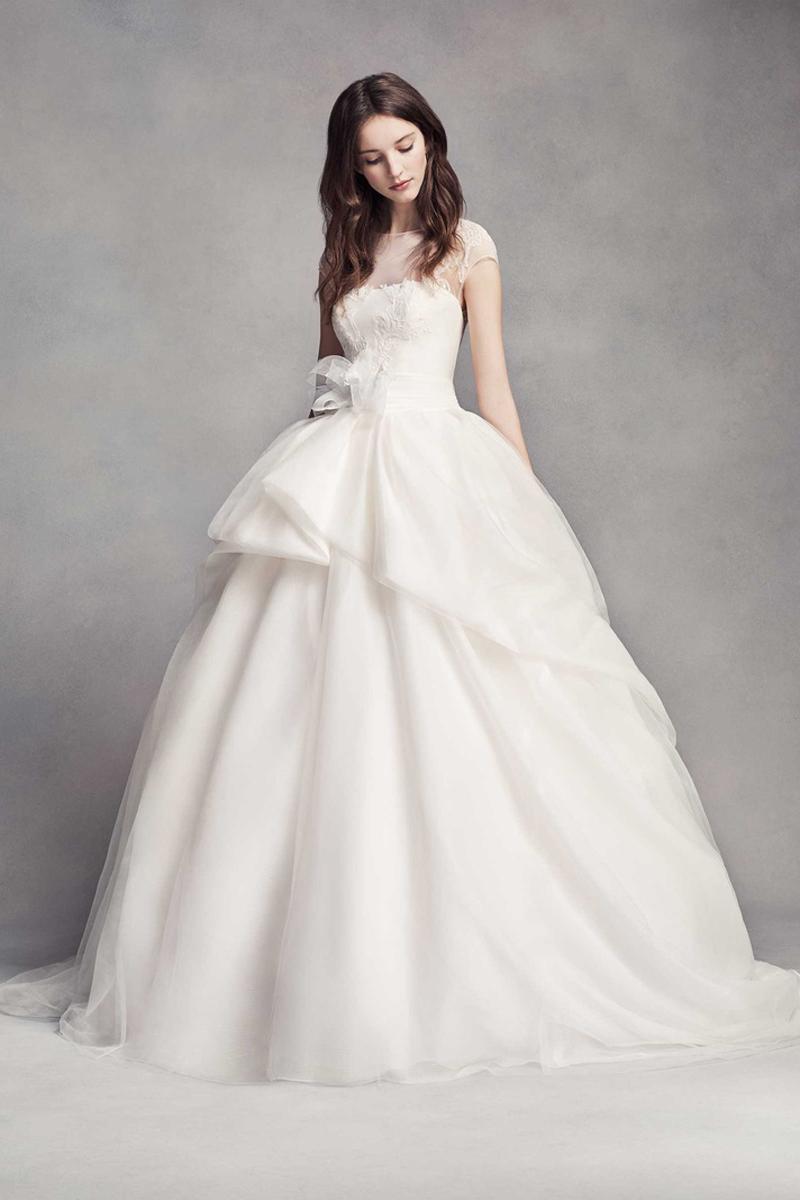 04-White by Vera Wang Lace Illusion Wedding Dress