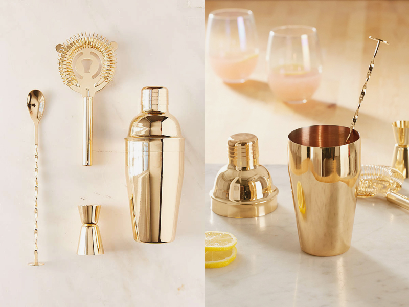 05-Metallic Bar Cocktail Shaker Set