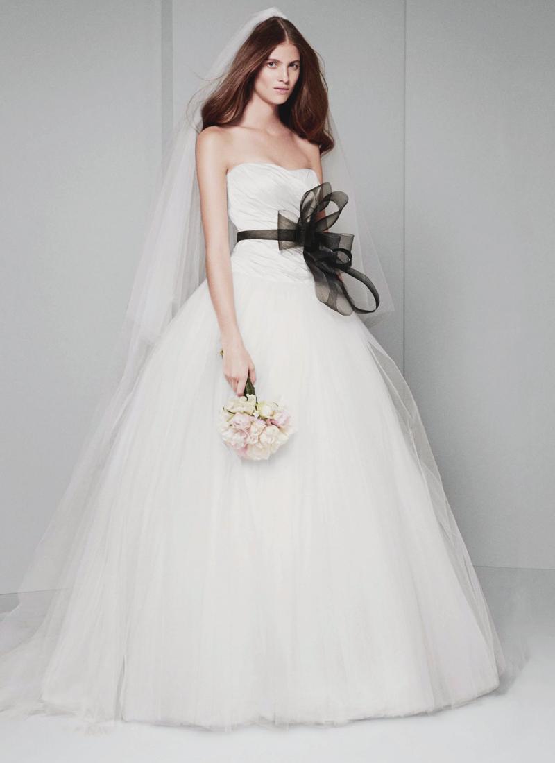 05-White by Vera Wang Draped Wedding Dress