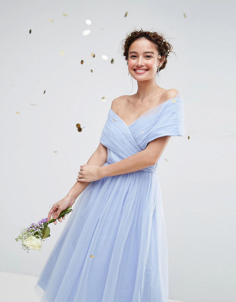 10-Asos Blue Tulle Midi Dress