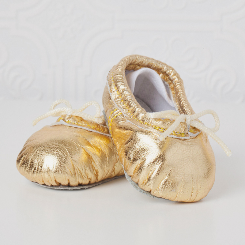 20-Gold Baby Ballet Slippers