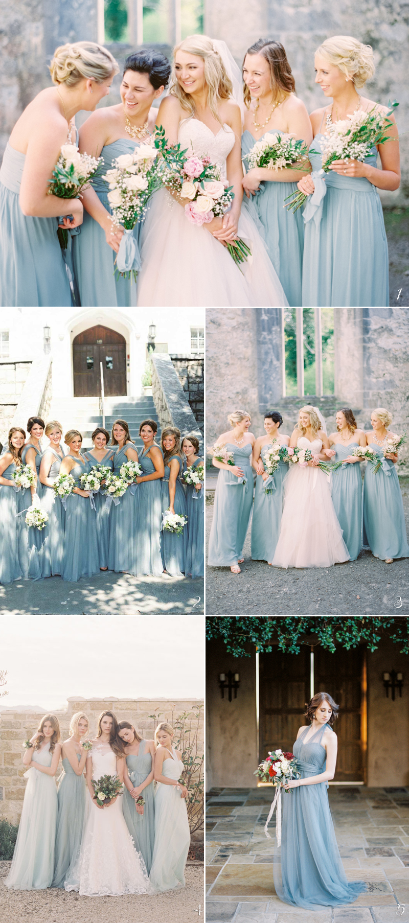 Trend report 5 best bridesmaid dress colors for spring 2018 airy oceanic blue ombrellifo Image collections