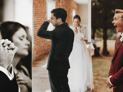 17 Heartfelt Wedding Photos of Emotional Groom's Reactions That Show True Love!