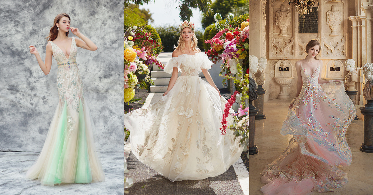 22 Chic And Playful Wedding Dresses For Modern Romantic Brides