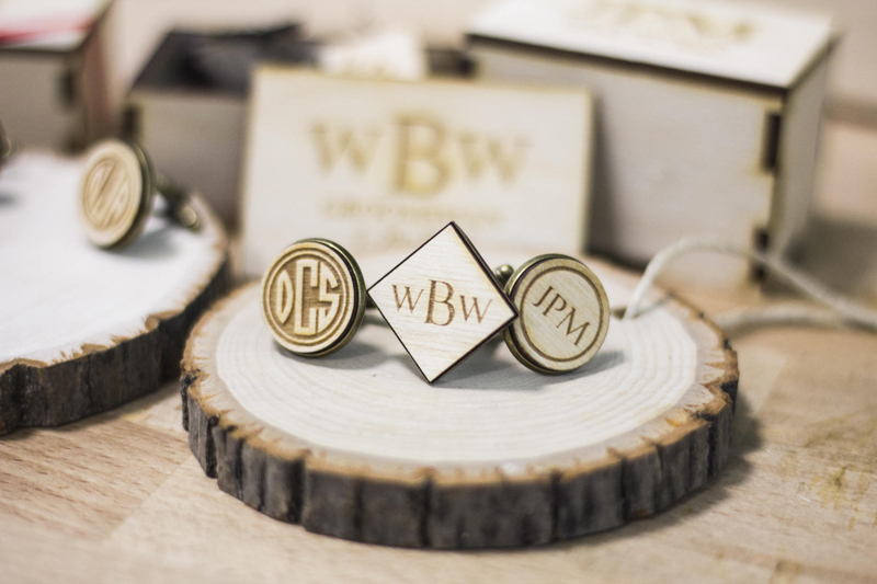 02-Personalized Wooden Cufflinks