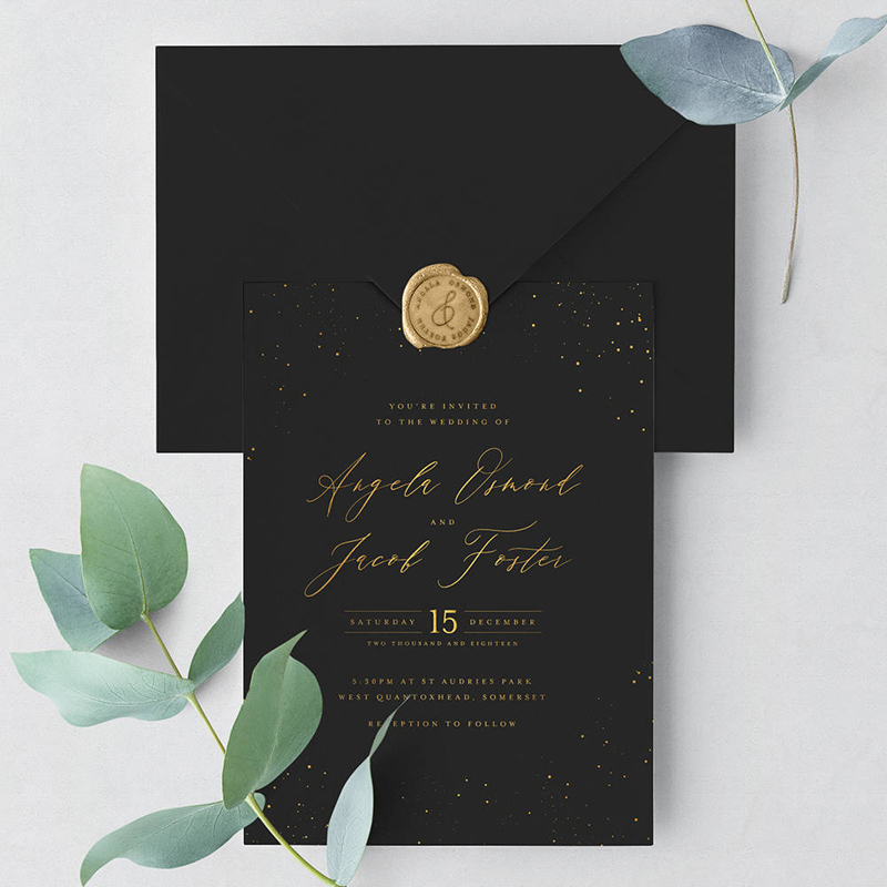 02-Starry Sky Wedding Invitation Suite