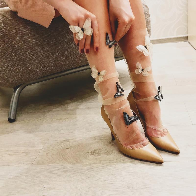 03-Butterfly Tulle Socks