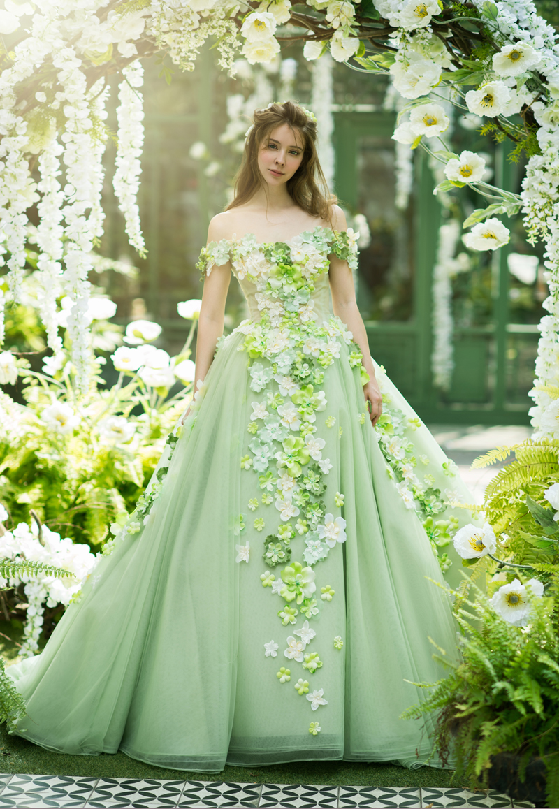 Catch The Spring Breeze 20 Colored Wedding Dress For