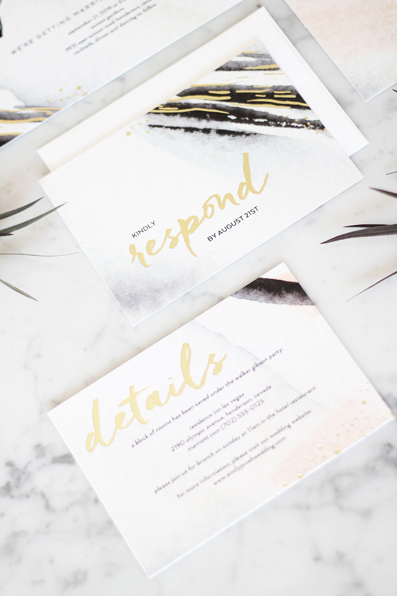 05-Ultramodern Brushstrokes Wedding Invitation