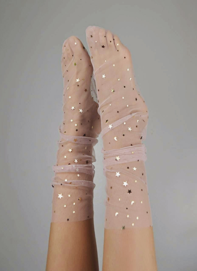 07-Star Dust Blush Socks