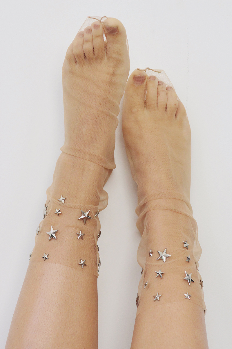 08-Starry Night Nude Sheer Tulle Socks