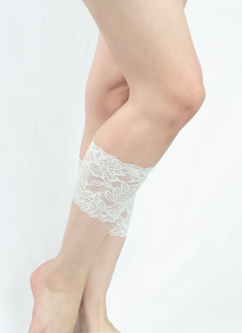 14-White Lace Boot Cuffs