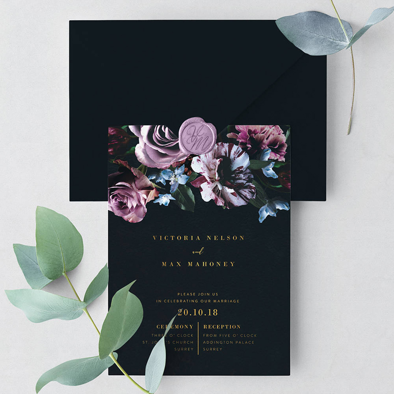 15-Romantic Bloom Wedding Invitation Suite